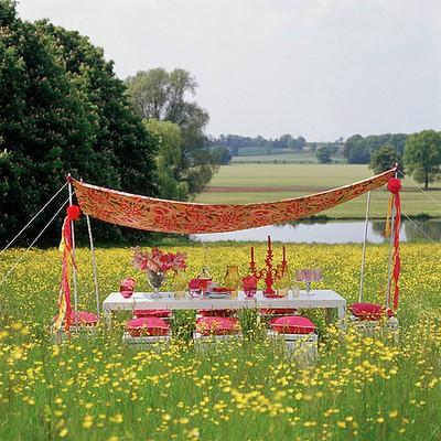 Table bohème hindou