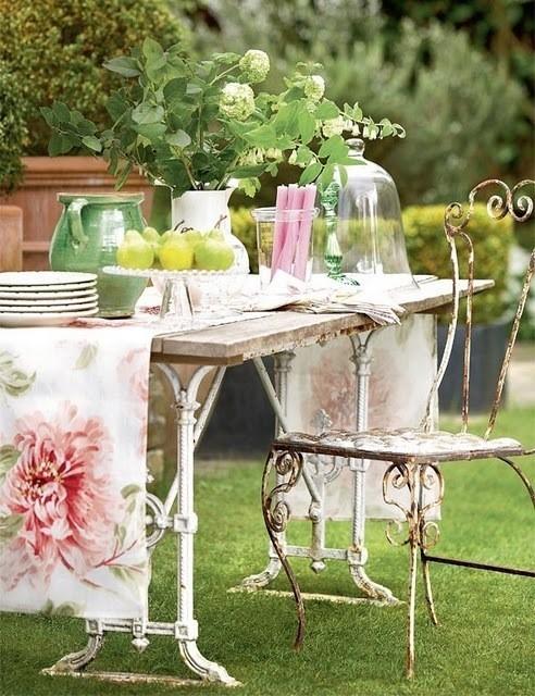 Table plein air - anglais
